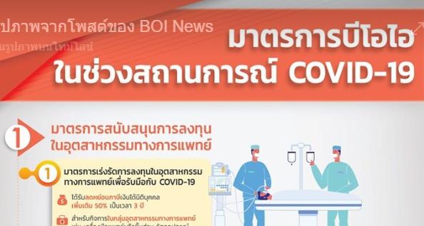 มาตรการ BOI ในช่วงสถานการณ์โควิด-19